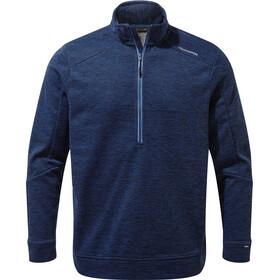 Craghoppers Strata Fleece Shirt Halve Rits Heren, deep blue